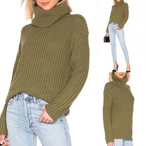 Lovers+Friends Cozy Spin Acrylic and Wool Sweater